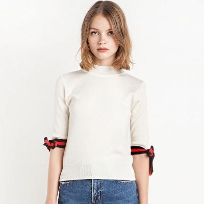 Solid White Fashion Sweaters Women Half Sleeve Turtleneck Female ...