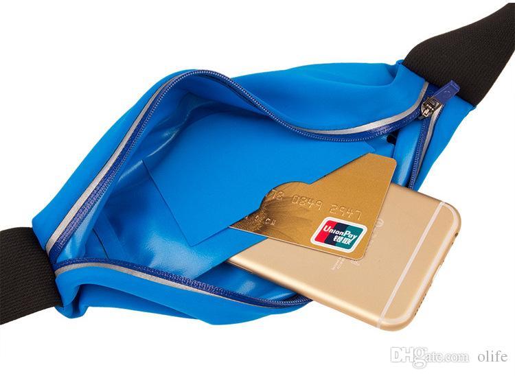 Unuversal للماء الرياضة الخصر حزام الحقيبة حقيبة حالة تغطية مرونة حزام جيب آيفون 7 6 6 ثانية زائد 5 ثانية se سامسونج غالاكسي s7 s6 حافة