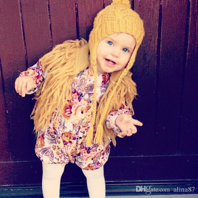 3d2fd2fed821 Baby Girls Tassel Faux Fur Vest Coat Children Knitted Cardigan ...