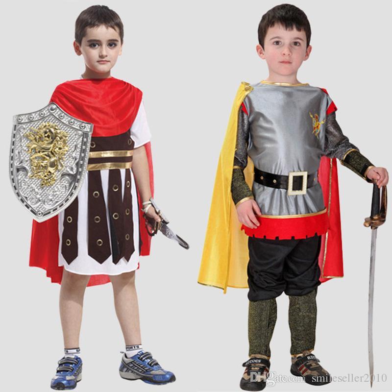 newly ancient roman warrior costume kids halloween cosplay clothing boys roman soldier performance dress sw0315 cool halloween costumes cute halloween