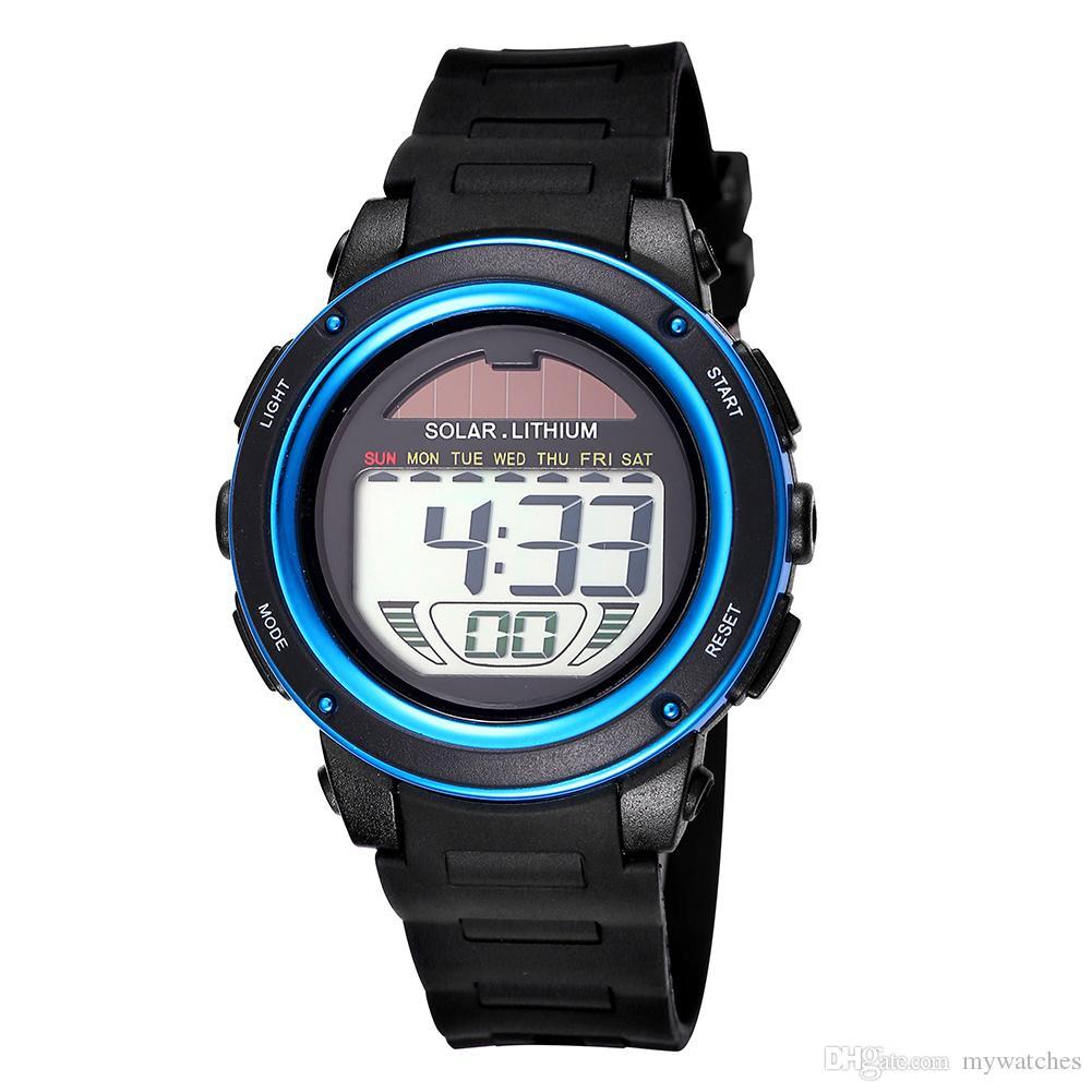 faece9229fec Satın Al SKMEI Moda Erkek Dijital İzle Erkekler Spor Saatleri Relogio  Masculino Relojes LED Askeri Su Geçirmez Adam Saatı Saat Erkek Için