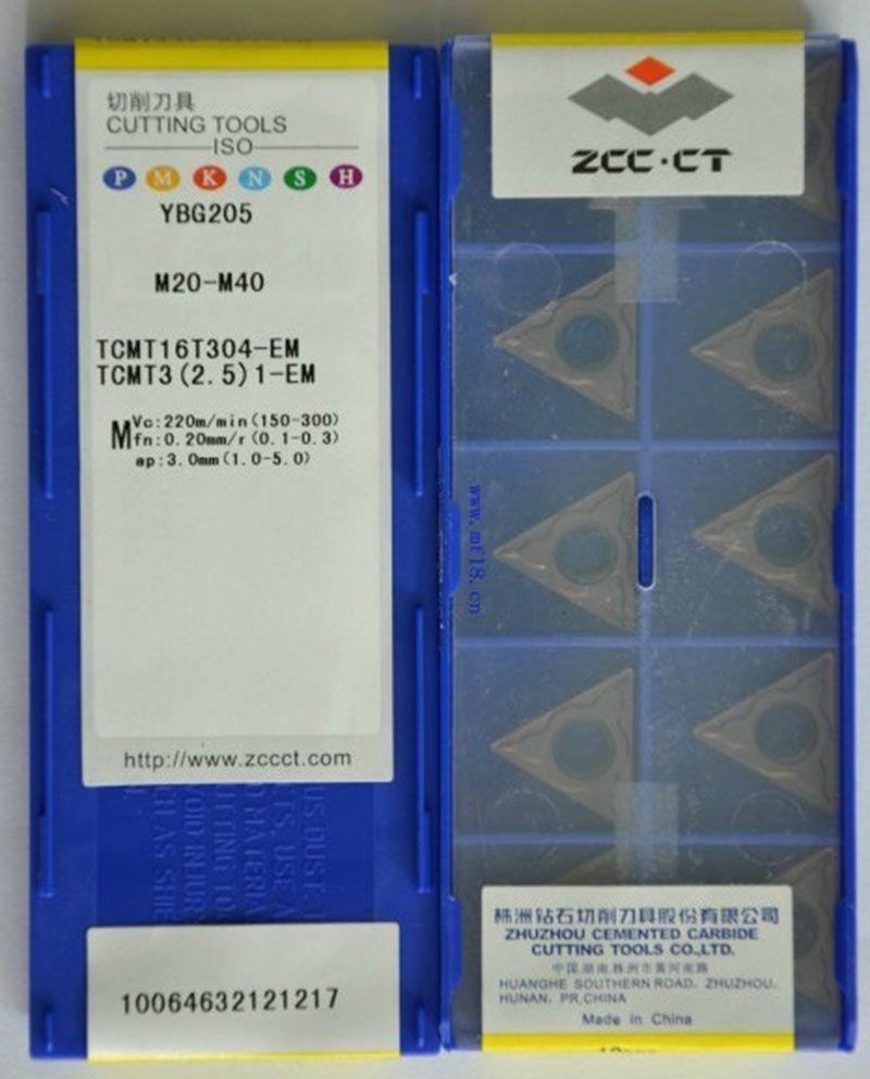 Lame de voiture CNC, TCMT16T304-EM YBG205