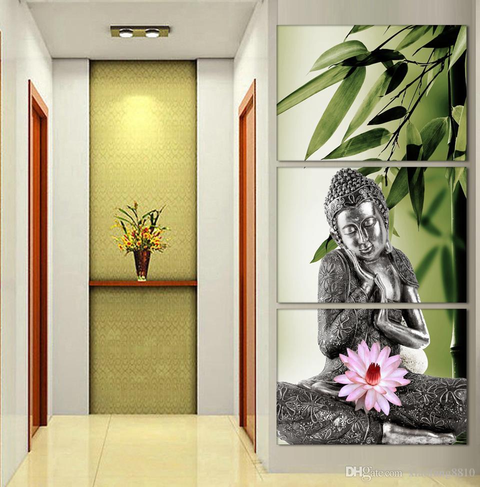 3 Панель Аннотация Печатных Hotoke Буддизм Будда Картина Маслом Картина Cuadros Декор Буда Холст Для Спальни Номера без Рамки