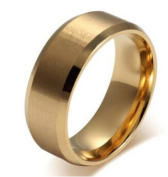 c20f2199f1dca 2017 Stylish Classic designs jewelry gold ring male ring female ring Matte  titanium steel Women s wedding engagement band