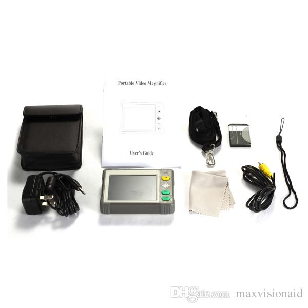 HD Compact 3.5 Inch 3X-15X Low Vision Tablet Screen Magnifier Video Magnifer Portable Low Vision Aid Reading Electronic Digital Magnifier