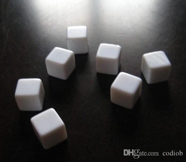 6 односторонняя пустые кости 20 мм квадратные углы свет доска кубики весело образовательные игрушки можно написать небольшой подарок сувенир украшения хорошая цена #B16
