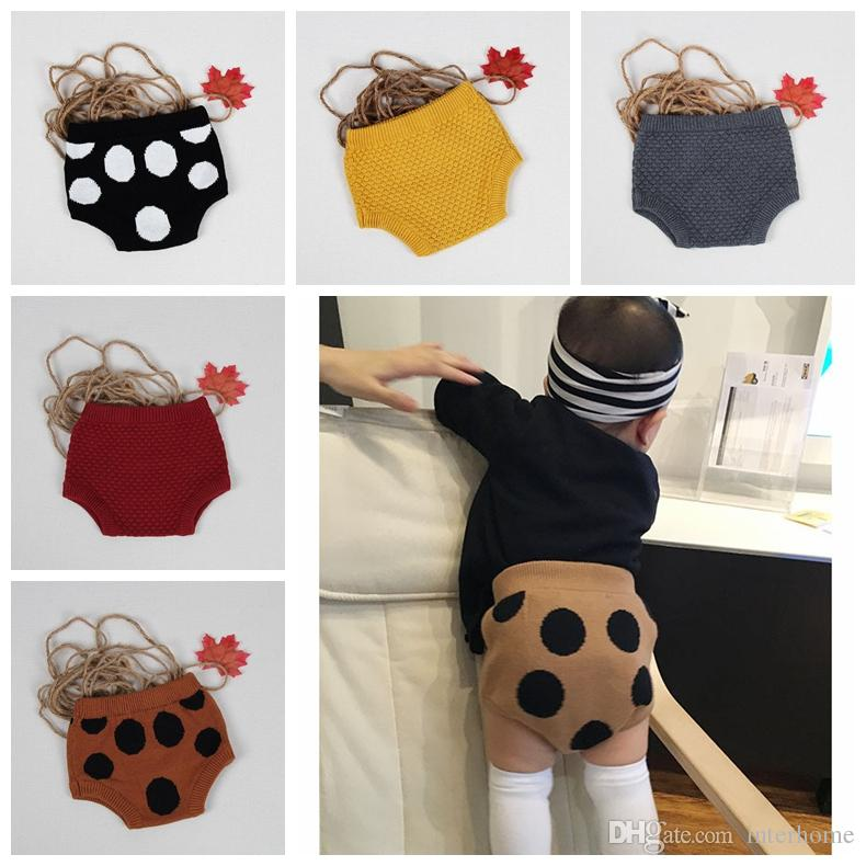 Baby Clothes Kids Pp Pants Ins Knit Shorts Knitted Crochet Pants ...