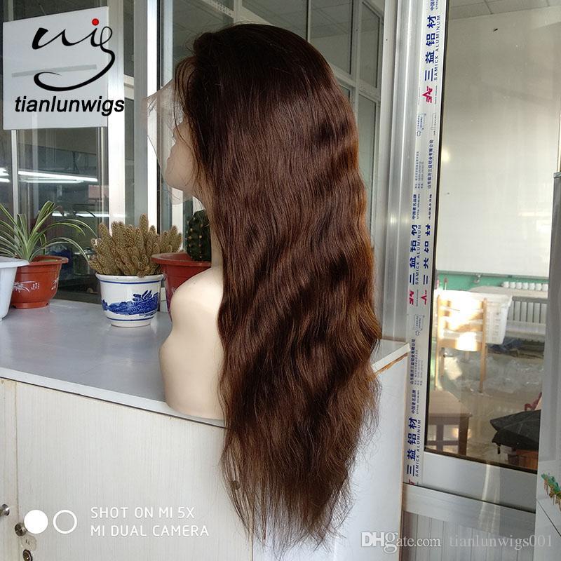 parrucca naturale del cuoio capelluto dei prodotti di vendita calda parrucca piena del merletto della parrucca del merletto dei capelli di densità 180, piccola parrucca anteriore del merletto di ordine di quantità da vendere