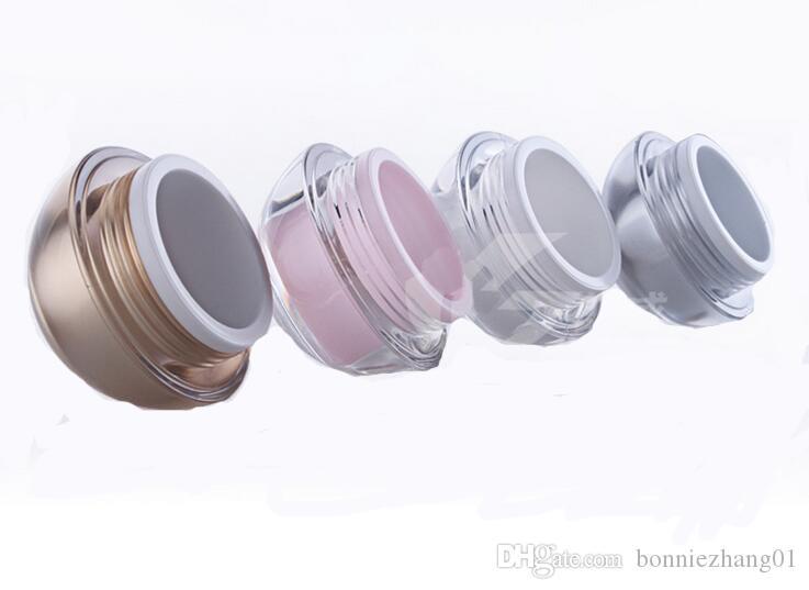القابلة لإعادة التعبئة البلاستيكية الفارغة التجميل الكرة الحاويات 5G ماكياج الشفاه بلسم جرة العين لمعان الوجه حالة كريم