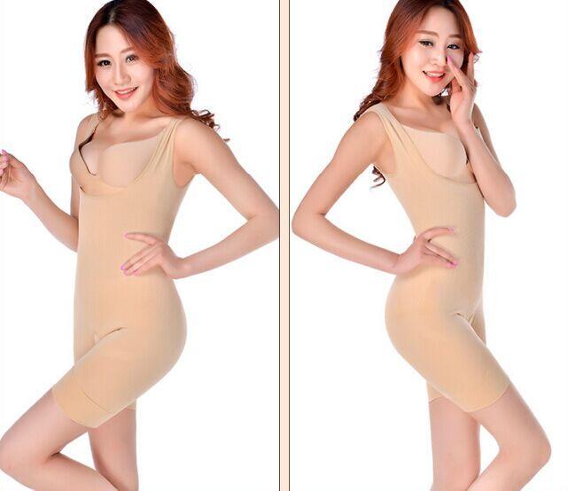 Hot Bambú Natural Adelgazante Body Suit Shaper Control firme Anti Celulitis Ropa interior Cuerpo completo adelgazamiento adelgazamiento entrenamiento de la cintura