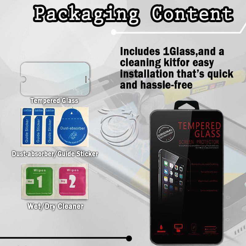 HTC M10 Ekran 9H Temperli Cam HD anti scratch koruyucular perakende kristal paketi ile