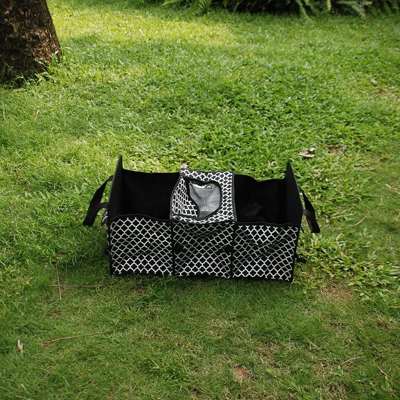 QuatreFoil 다용도 스토리지 토트 도매 공백 폴리 에스터 여행 트렁크 주최자 Foldable 정리 가방 2 색 DOM106309