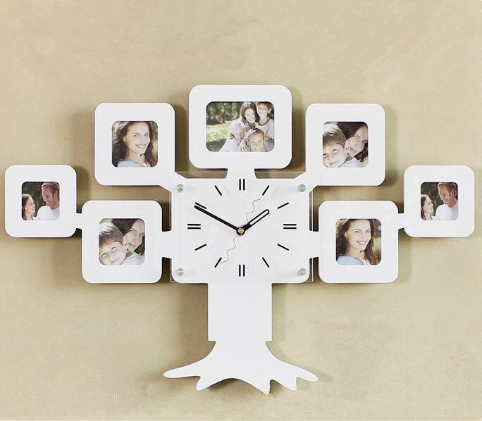 Compre 1 Pieza Reloj De Pared Creativo De Madera Del Marco De La ...