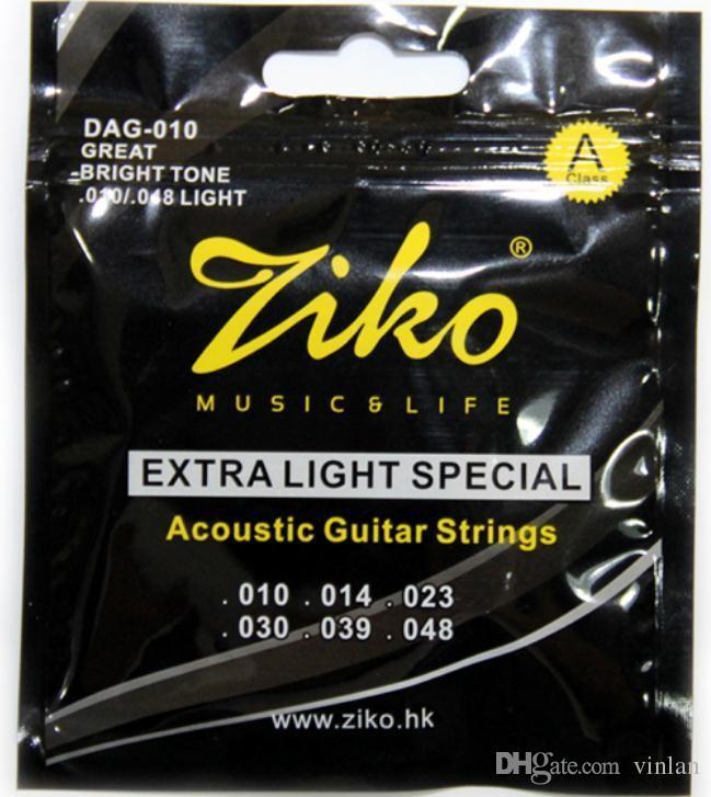 ZIKO 010-048 Cordes pour guitare acoustique DAG-010 parties de guitare instruments de musique guitare Accessoires