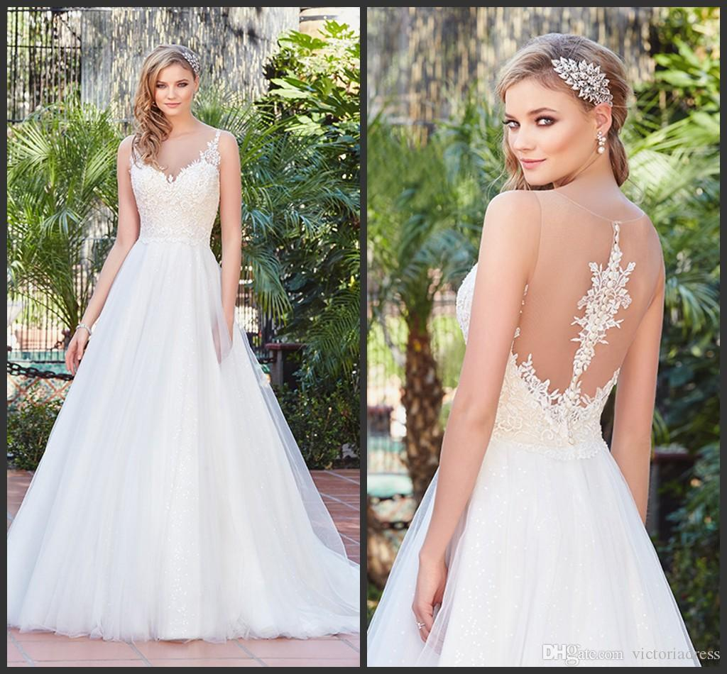Discount illusion neck back a line wedding dresses 2017 kitty chen discount illusion neck back a line wedding dresses 2017 kitty chen ivory ruched tulle appliques lace sweep train garden bridal gowns v1701 donatella halter ombrellifo Images