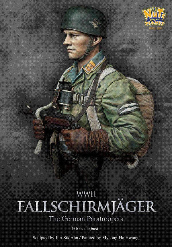 2018 Wwii German Elite Paratroopers Figure Bust Resin Models Model Painting Cartoon From Yuankun9 7089