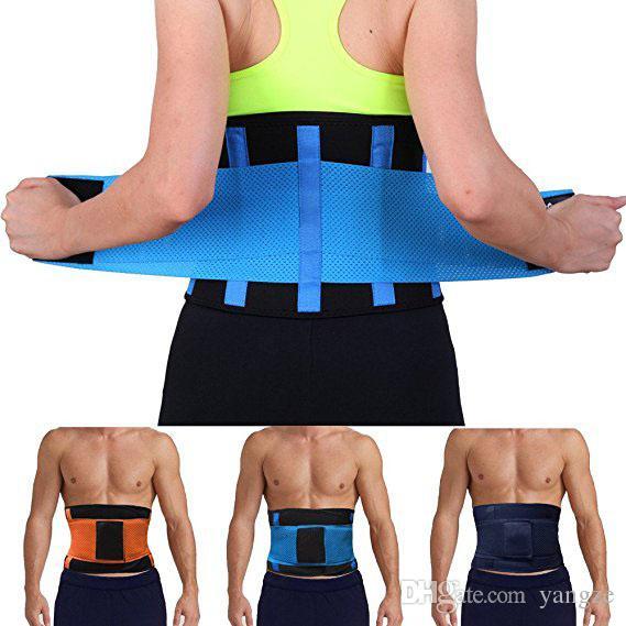 Женщины Мужчины Регулируемая Талия Тренер Триммер Пояса Фитнес Body Shaper Поддержка Спины Для Песочные Часы Shaper Черный Розовый Зеленый Синий Желтый Mk63
