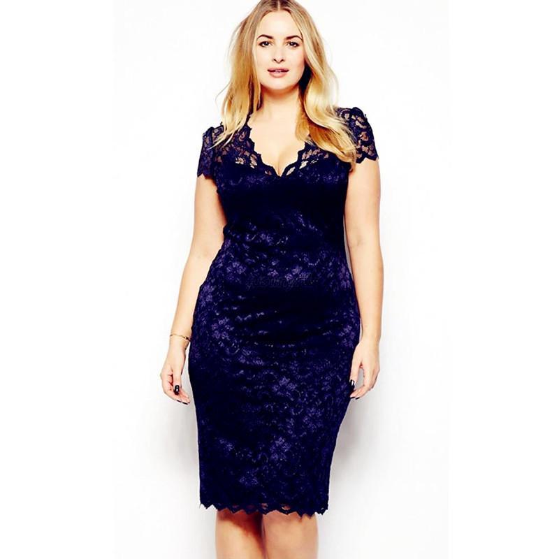 2018 Ds168 Celebstyle Plus Size M 3xl Big Size Ladies Lace Dress