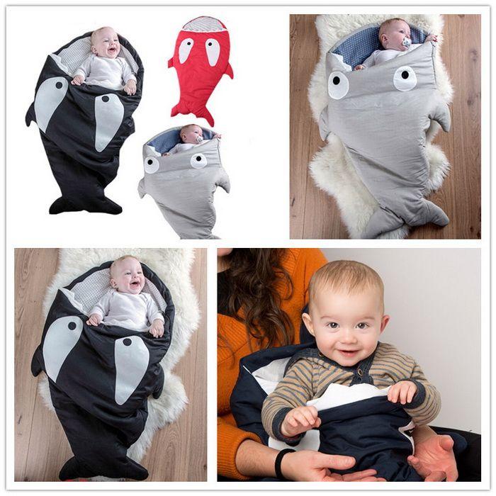 Shark Pillow Sleeping Bag shark bag newborns sleeping bag winter strollers bed swaddle