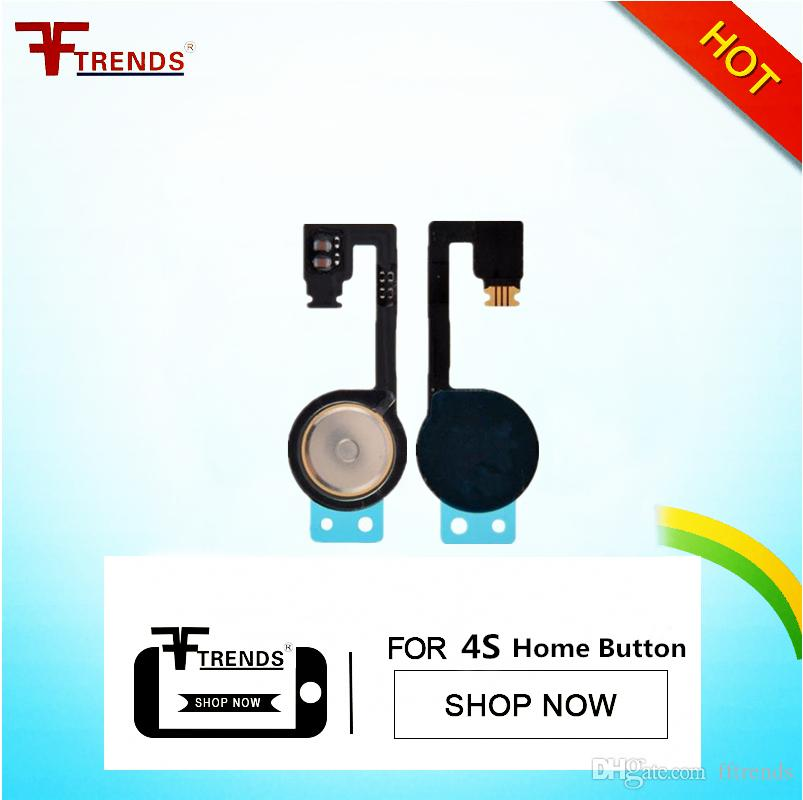 High Quality for iPhone 4S/4 Home Button Flex Cable Ribbon Replacement Repair Parts Cell Phone Flex Cable Free China Post Air Mail