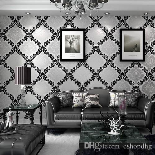 Pure Paper Geometric Wallpaper Italian Metallic Silver Modern Wallcovering Background Wall Vintage Computer Wallpapers
