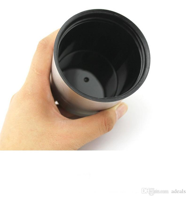 Wasser-Heizungs-Becher, vakuumisoliertes Auto-Wasserkocher erhitztes Edelstahl-Auto-Zigaretten-Feuerzeug-Heizung Cup-Kaffeetasse mit Ladegerät