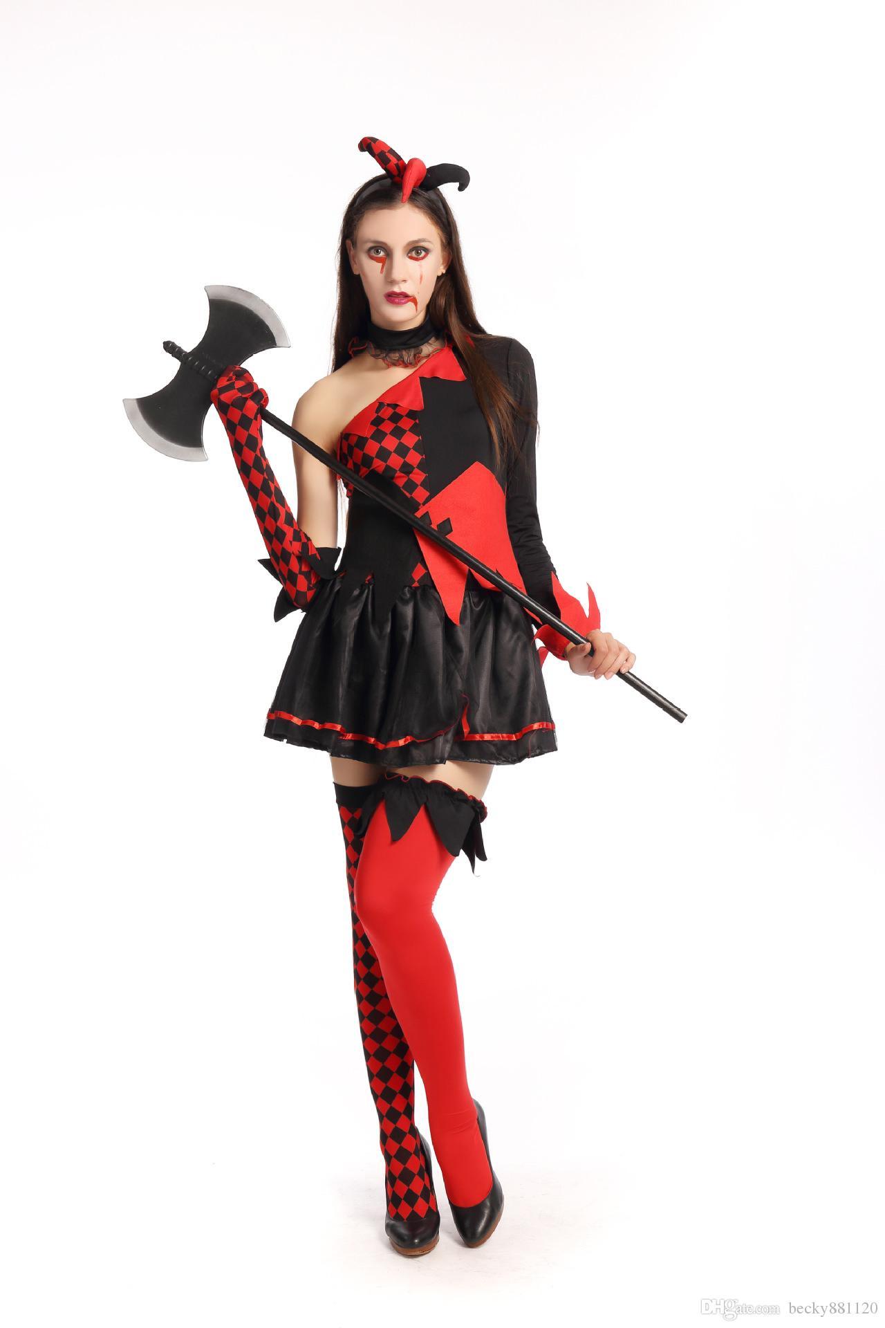 Spedizione gratuita halloween strega costume cosplay vampire cadavere sposa vestiti sexy regina prestazione uniforme le donne all'ingrosso