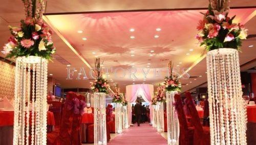 2016 الزفاف الديكور الاكريليك كريستال عمود الممر الطريق الرصاص مع الصمام ضوء الجدول المركزية للمنزل الزفاف فندق حزب