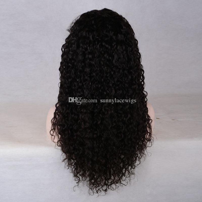 Free Part Full Lace Human Hair Wigs With Baby Hair High Ponytail Kinky Curly Brazilian Virgin Lace Front Wigs For Black Women