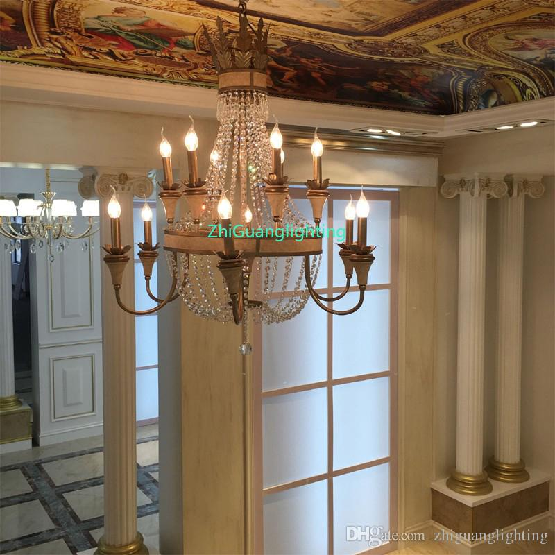American living room chandelier restaurant bedroom country French retro wrought iron garden simple creative European crystal chandelier