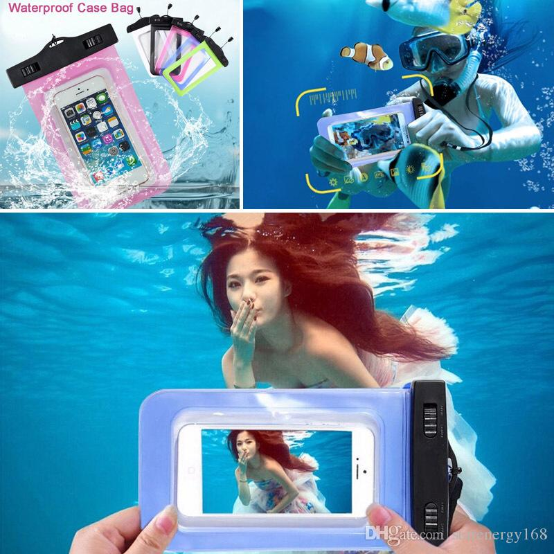 purchase cheap a7d54 97487 For iphone 7 s7 Universal Clear Waterproof Pouch Case Water Proof Bag  Underwater Cover For iPhone6 plus 5 Samsung Galaxy S6 Note 4 V-SW