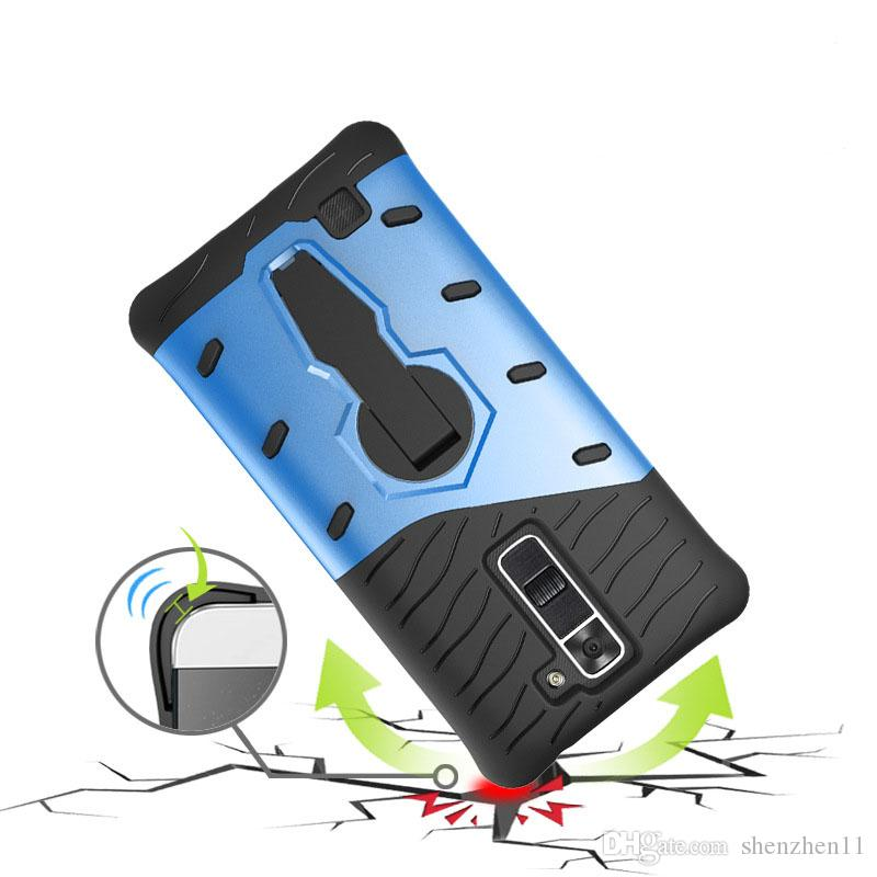 Para LG K10 K7 Moto G4 plus / play Nuevo Slim Hybrid Armor Case PC + TPU Funda Dura Motorola z droid Huawei Honor P8 Lite SCA201