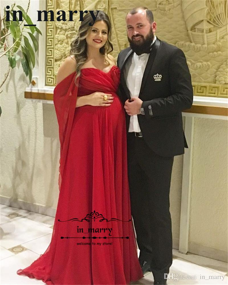 Elegant red long chiffon cheap maternity evening dresses 2018 a elegant red long chiffon cheap maternity evening dresses 2018 a line off shoulder ruched plus size pregnant formal dresses evening wear gown plus size ombrellifo Images
