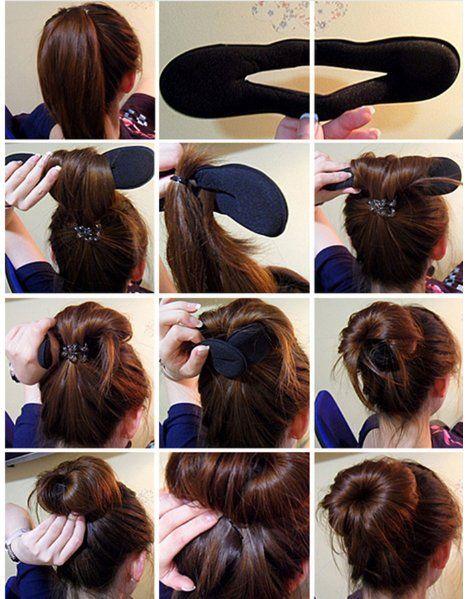 2 pçs / lote hair braider magia esponja francesa fácil diy ferramentas de estilo de cabelo beauty bun maker torção encrespador rolo de cabelo coiffure