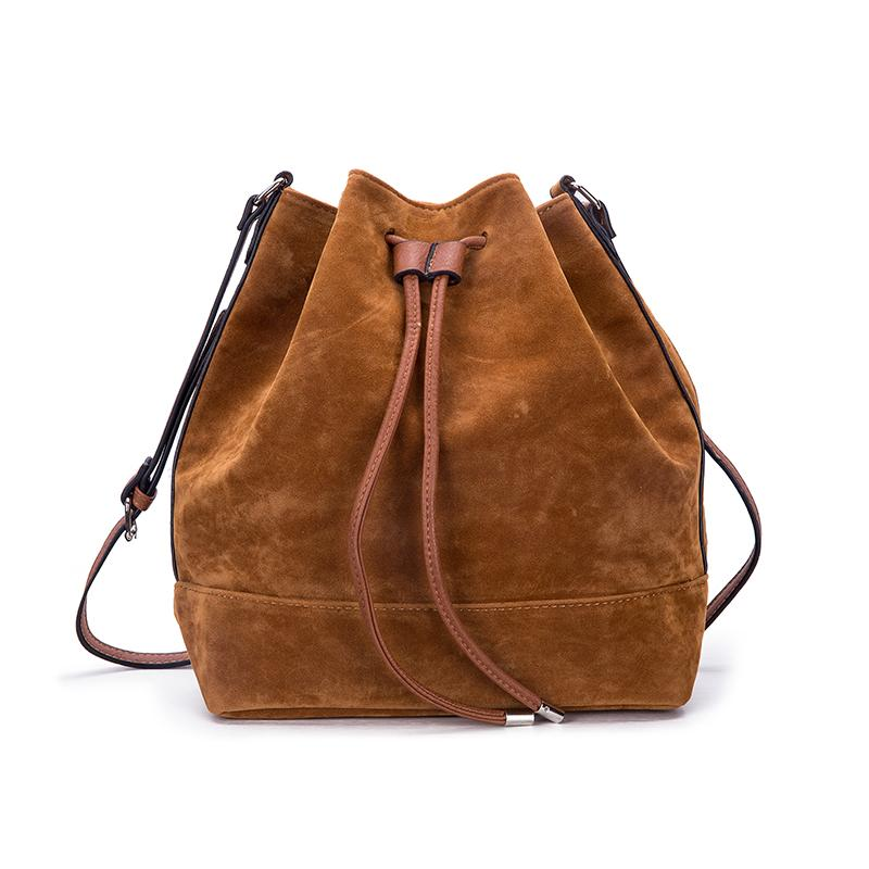 2019 Woman Suede Drawstring Bucket Bag Brown Ladies Shoulder Crossbody Bag  Travel Large Capacity Black Tote Handbag From Hec fashion,  26.4    DHgate.Com 024bfdff9e