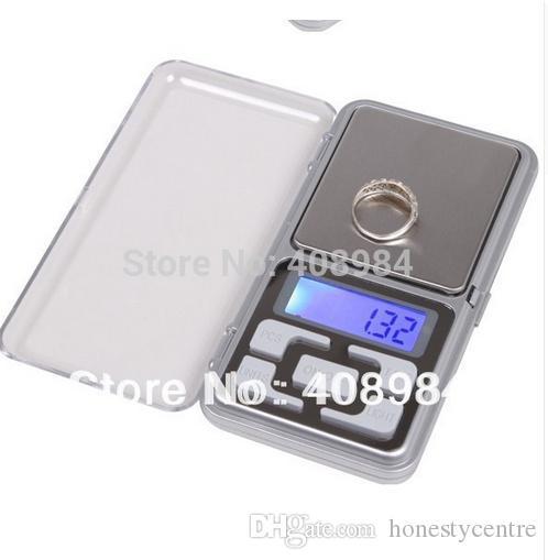 Venta caliente Electrónica Portátil 0.01g 200g Pantalla LCD LCD Bolsillo de Pesaje de la joyería de diamantes Escala de Equilibrio
