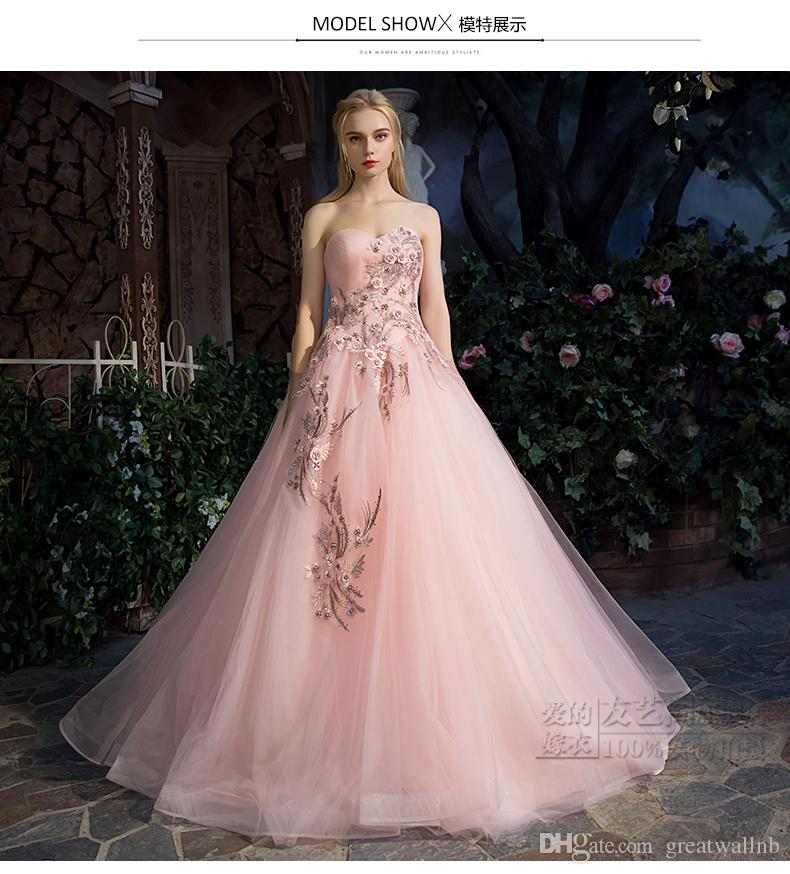 1688d86c20 real pale pink luxury medieval dress flower beading ball gown siss princess  Medieval Renaissance Gown queen Cosplay Victorian Belle ball
