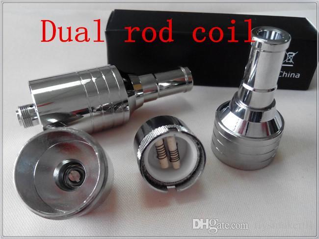 aroma wax vaporizer dual ceramic rod coil wax vaporizer tank electronic  smoking waxy honey oil d core V2 7 atomizer tank 510