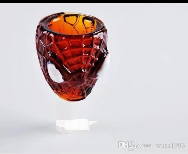 Cabeza de Spiderman, tubos de vidrio al por mayor, botellas de agua de vidrio, accesorios para fumar, entrega gratuita