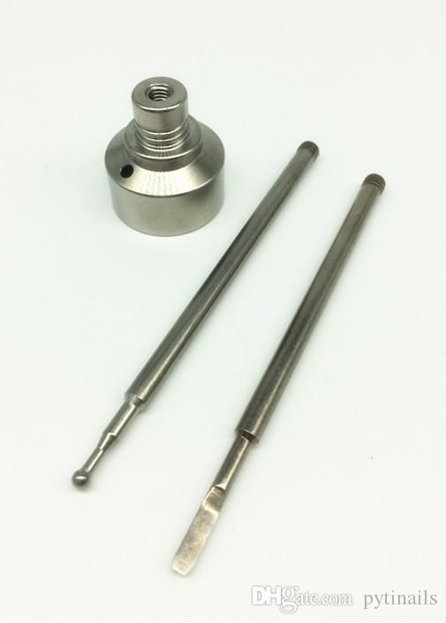 Meilleur prix de gros GR2 Domeless Ttitanium ongles 10 mm 14 mm 18 mm et E-ongles bouchon en glucides au point / plat dabber de titane