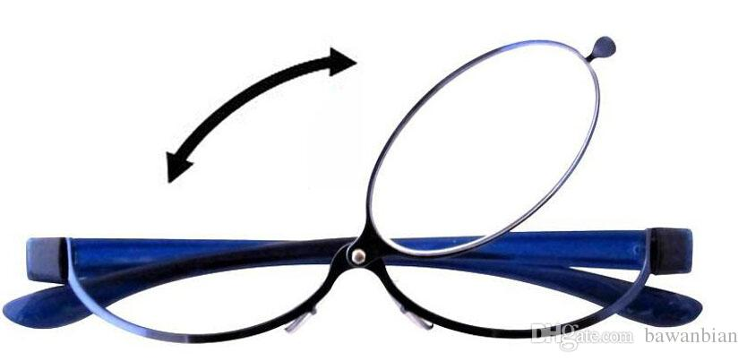 5908ebcf7df Patent Blue Magnifying Eye Makeup Eyeglasses Flip Up Reading Glasses For  Woman With Case Lightweight And Comfortable Reading Glasses Diopter Reading  Glasses ...