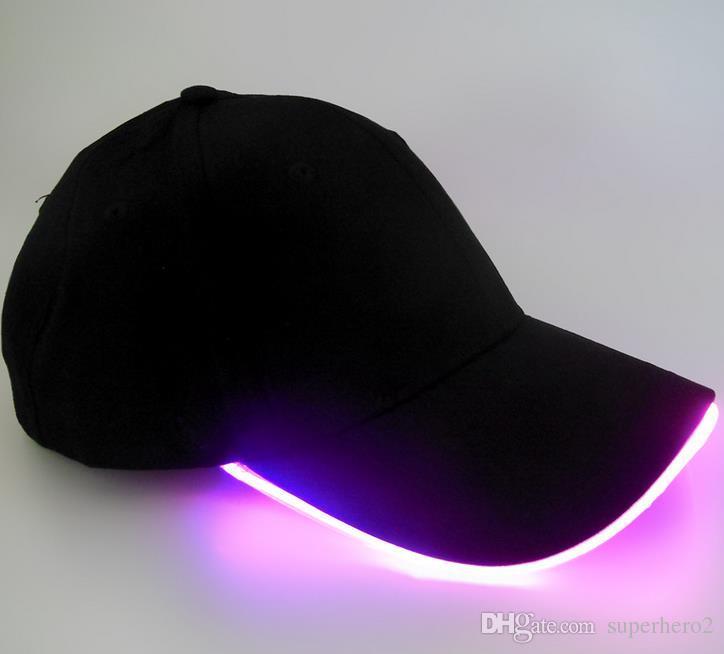 Hommes Femmes LED Sports casquette de baseball Performer discothèque Hip hop fête festive Casquette de baseball de nuit en cours d'exécution led s'allume lueur chapeau sunvisor cadeau