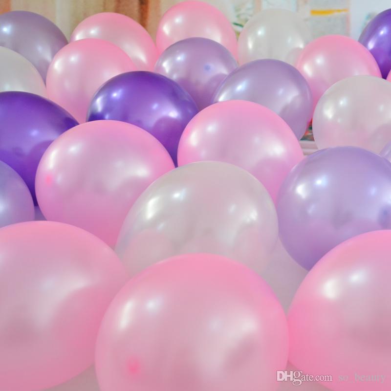 látex rodada balão festa cores balões de pérolas casamento decoração de aniversário feliz aniversário de 10 polegadas