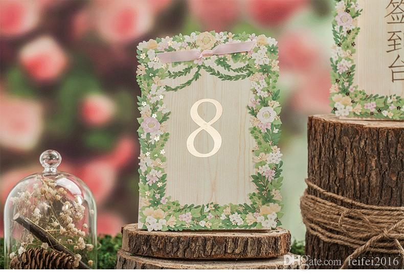 Korea style floral laser cut wedding table card seat card wedding korea style floral laser cut wedding table card seat card wedding decorations party place card name card hollow seating cards purple wedding decorations junglespirit Image collections