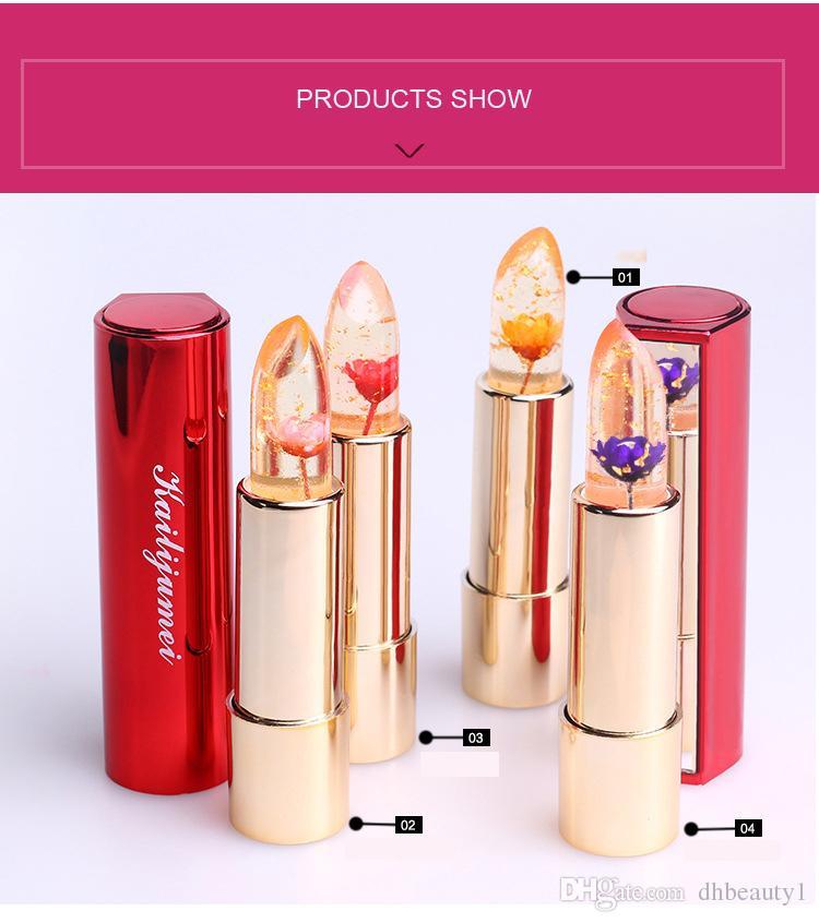 Original kailijumei matte lipstick with mirror Flower Long Lasting Magic Color Temperature Change Free Ship + Free Gift