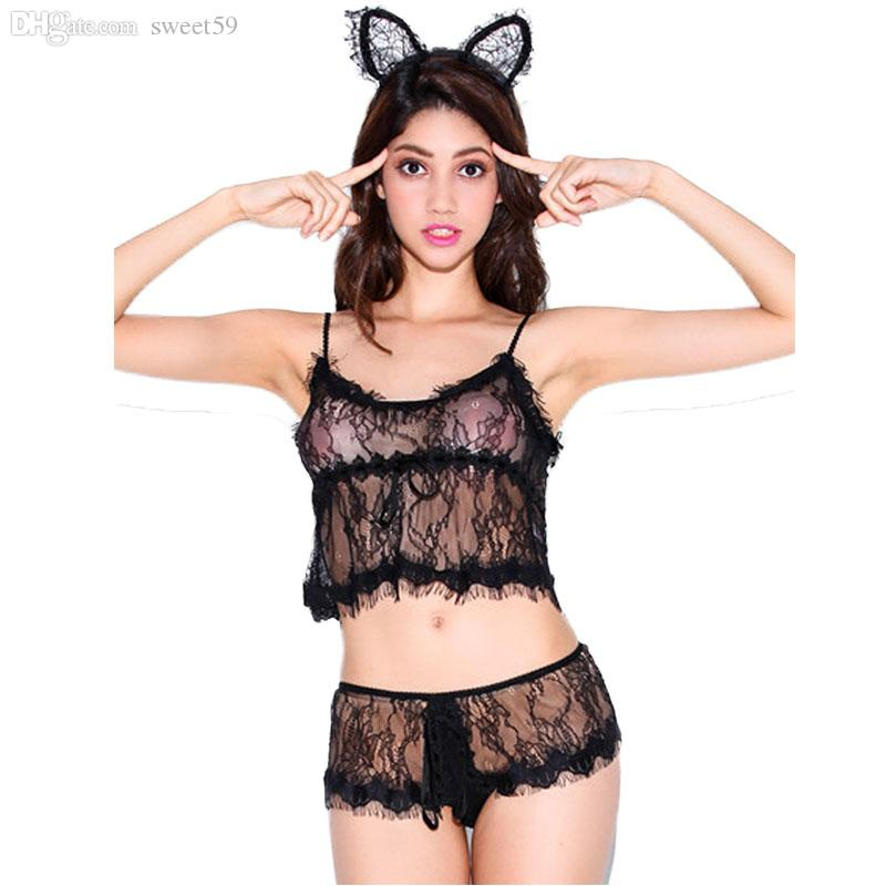 fcfeaf9dd4 2019 Wholesale LH8407 New Arrival Sexy Style Women Underwear Set 2016  Fashion 2 Solid Colors Bra Sets Top Selling All Over Lace Sexy Lingerie  From Sweet59