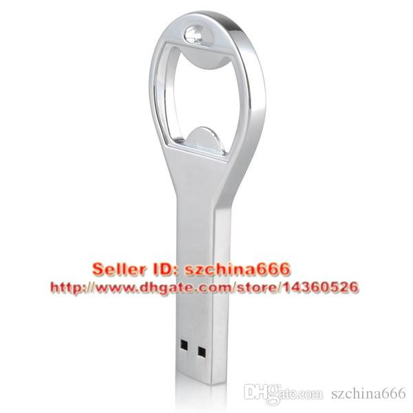 Waterproof Bottle opener USB 2.0 Memory Stick Flash pen Drive 8GB 4GB 16GB 1GB 2GB Key Opener