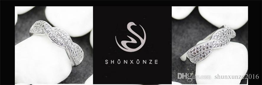 Kupfer rhodiniert klassische ringe weiß zirkonia sportlich mn3257 sz # 6 7 8 9 edle großzügige liebste bestseller erstklassige produkte