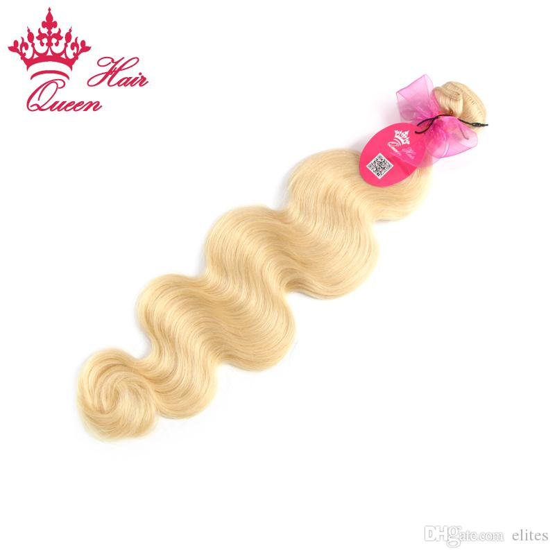 European Virgin Human Hair #613 Light Blond Blonde Color Body Wave 100gram 100% Human Hair Weave Extensions DHL