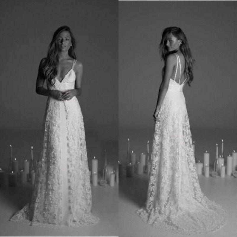 Discount Maternity Modern Lace Wedding Dress 2017 Rime Arodaky New ...